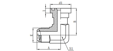 90°JIC MALE 74°CONE/S-ERIES FLANGE